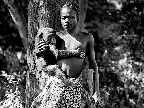 Ota Benga at Bronx Zoo